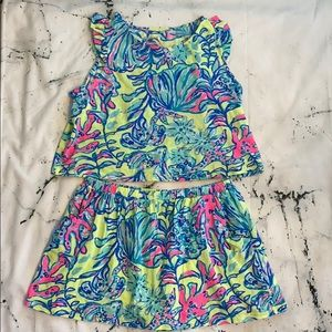 Lilly Pulitzer Top and Skort Set
